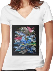 Save our Seas Women's Fitted V-Neck T-Shirt