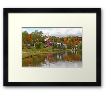 Autumn in Mont Ste-Marie, Quebec Framed Print