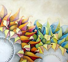 Cheery Sunflowers by Beth Aronoff