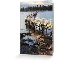 Granite Island Bridge Pt.6 Greeting Card