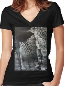 Bad weather Women's Fitted V-Neck T-Shirt