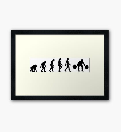 The Evolution of Weightlifting Framed Print