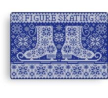 Knitted jacquard pattern figure skating Canvas Print