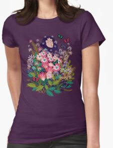 Floral Dream in Green Womens Fitted T-Shirt