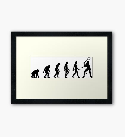 The Evolution of Squash Framed Print