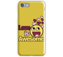 Love is awesome iPhone Case/Skin
