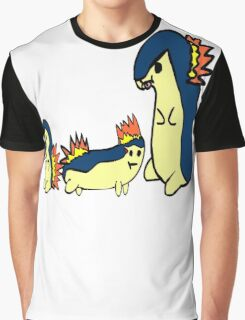 Pokemon - Derpy cyndaquil evolution trio Graphic T-Shirt