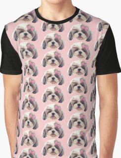 CUTE SHITZU DOG Graphic T-Shirt