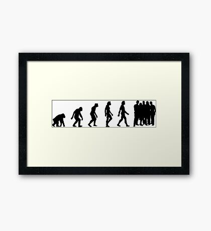 The Evolution of overpopulation Framed Print