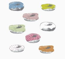 Donuts pattern One Piece - Long Sleeve