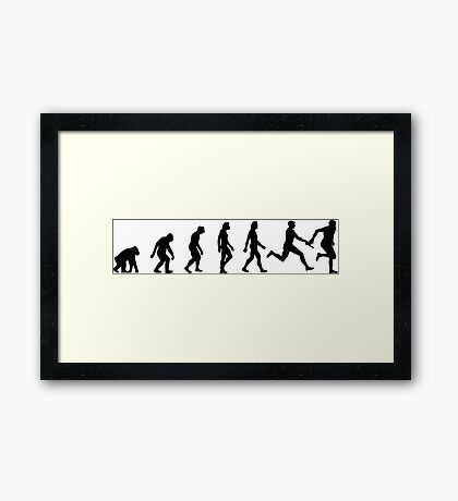 The Evolution of Athletics Framed Print