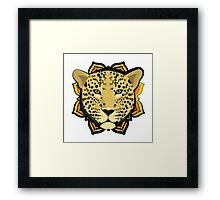 Retro Leopard Framed Print