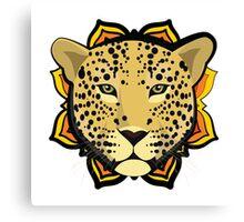 Retro Leopard Canvas Print