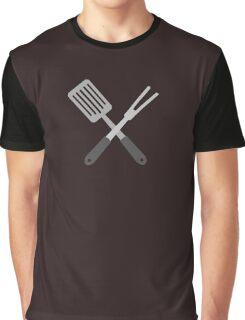 BBQ Utensils Graphic T-Shirt