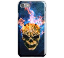 The Flaming Skull iPhone Case/Skin