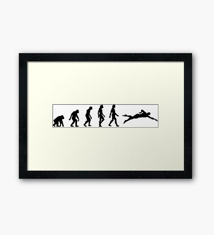 The evolution of swimming Framed Print