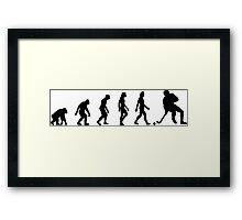 The Evolution of Hockey Framed Print