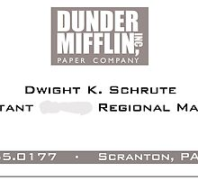 Dwight Schrute Business Card by ruthykaye