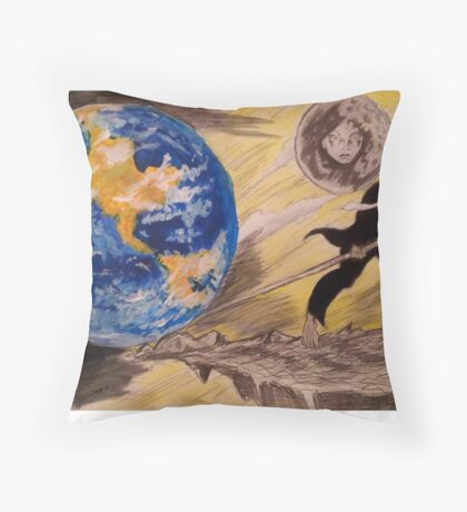 give me a place to stand and I will move the earth Throw Pillow