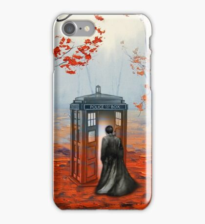 Doctor Who Autumn Art Painting iPhone Case/Skin