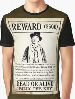 Billy the Kid Wanted Poster Graphic T-Shirt