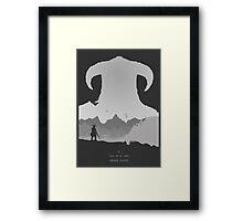 A Tale of a Lone Dragon Slayer Framed Print