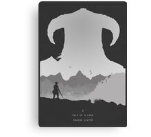 A Tale of a Lone Dragon Slayer Canvas Print