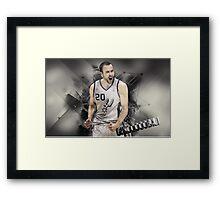 Ginobili Framed Print