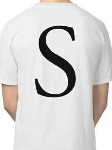 S, Alphabet Letter, Sophia, Sierra, Sugar, A to Z, 19th Letter of Alphabet, Initial, Name, Letters, Tag, Nick Name Classic T-Shirt