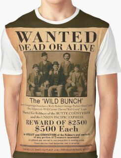 The Wild Bunch Wanted Poster Graphic T-Shirt