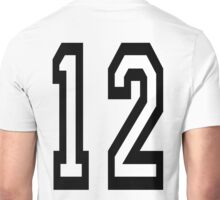 12, TEAM SPORTS, NUMBER 12, TWELVE, TWELFTH, Competition Unisex T-Shirt