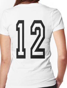 12, TEAM SPORTS, NUMBER 12, TWELVE, TWELFTH, Competition Womens Fitted T-Shirt