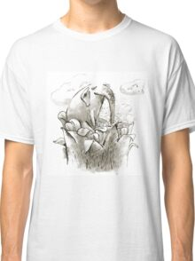 Fairy Elephant Drinks Nectar of a Giant Magic Flower Classic T-Shirt