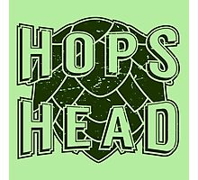Hops Head - Beer Saying Photographic Print