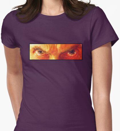 Am I a Good Man? - Orange  Womens Fitted T-Shirt