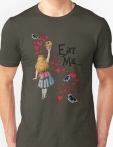 Alice in the Wonderland Eat Me Muffin  T-Shirt