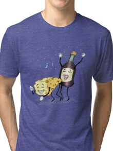Cheese & Whine Party Tri-blend T-Shirt