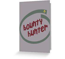 Boba Fett - Bounty Hunter Intel logo Greeting Card