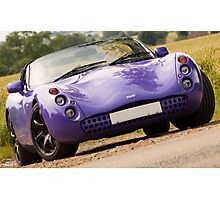 Purple TVR Tuscan Sportscar / Supercar Photographic Print