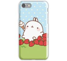 kawaii molang more strawberries iPhone Case/Skin