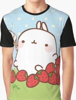 kawaii molang more strawberries Graphic T-Shirt