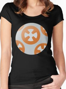 Simple BB8 Circle Design Women's Fitted Scoop T-Shirt