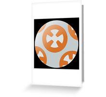 Simple BB8 Circle Design Greeting Card