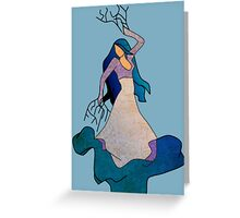 Water _ The Dancing Woman Willow Greeting Card