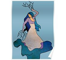 Water _ The Dancing Woman Willow Poster