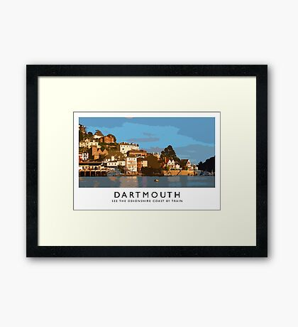 Dartmouth (Railway Poster) Framed Print