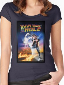 Swim Back to the hole Women's Fitted Scoop T-Shirt
