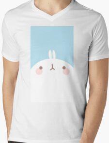 kawaii molang close up Mens V-Neck T-Shirt