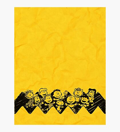 Charlie Brown y sus amigos Photographic Print