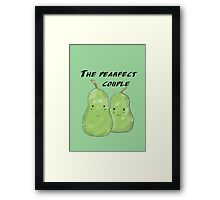 Pearfect couple Framed Print